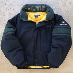 Vintage Nautica Sailing Puffer Windbreaker Jacket